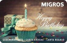 Happy Birthday cupcake & cadeau