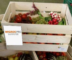 Caisse légumes DLR avec MIGROS PRO